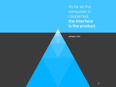 Color Exploration #07 minimal iceberg blue quote design
