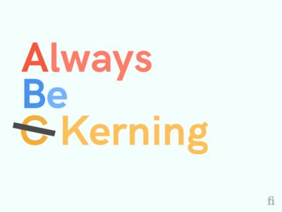 Typography ABC kerning basic abc colors typography