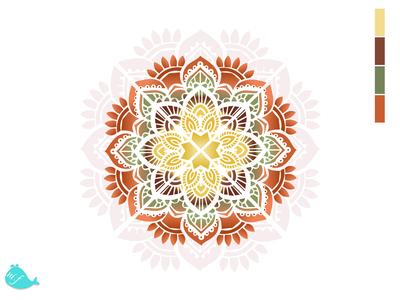 Mandala of Nature vector flat branding art icon app illustrator ui design illustration