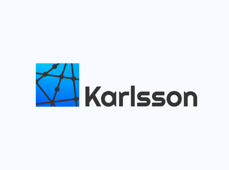 karlsson logo brand design branding tech logo