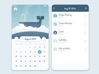 Whale Task Calendar