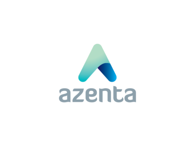 Azenta branding azenta simple boomerang logo design logo