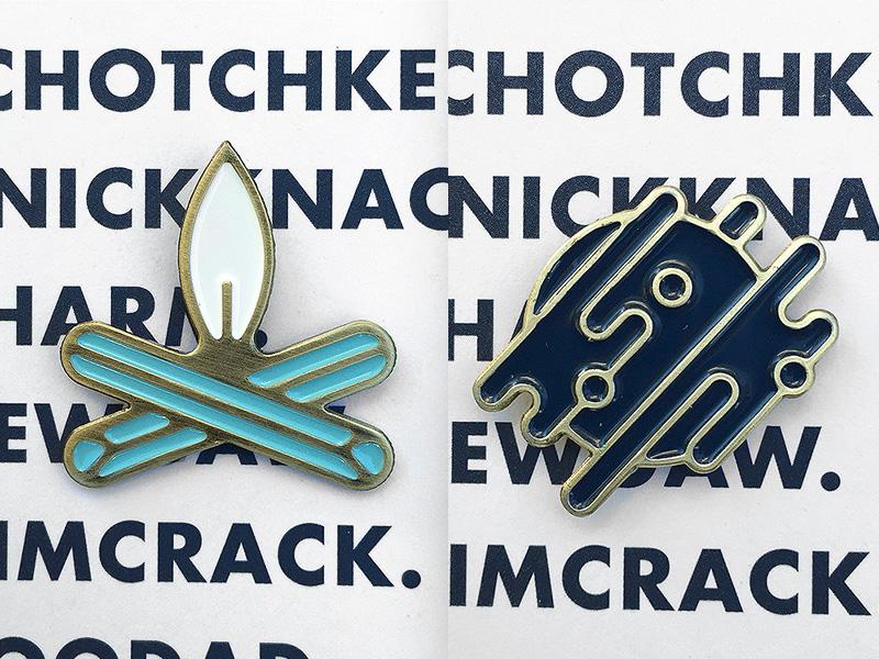 Ferocious Pins, in the metal! enamel pin ferocious art and fiction ferocious quarterly