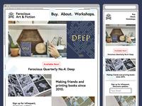 Ferocious Art & Fiction, the website