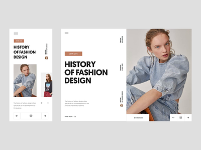 Fashion Blog :: Web Design :: Layout Exploration branding ui fashion blog tranmautritam minimal creative web design clean ui design