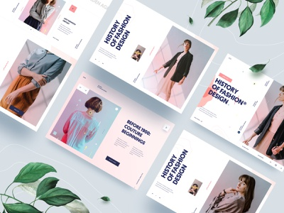 Landing Page Website | F.a.s.h.i.o.n interface layout grid model plant showcase animation video scrolling interaction ux design ui design element app clean typography fashion landing page ux ui