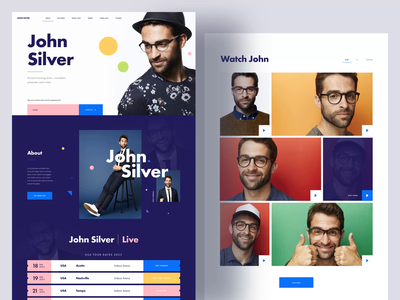 [FREE] MI Comedian - One Page Website interface design ui design web design free download sketch app freebie gallery video ticket interface web typography free landingpage ux ui website comedian artist onepage