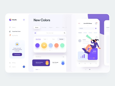 Color Palette Generator clean dashboard minimal mockup ux design live demo live preview color scheme web design web illustration user interface interface mobile app mobile app product design ui design ux ui