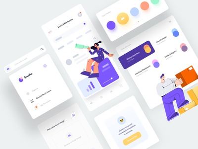 Interface Elements for Color Generator clean simple dashboard design dashboard character illustration web design web mockup mobile app mobile minimal color generator elements user interface interface ux design ui design ux ui