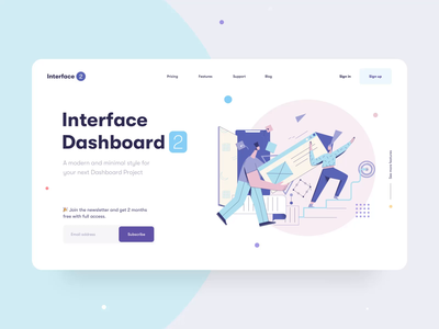 Interface Dashboard Landing Page - Animation features pricing tab card mobile minimal dashboard dashboard after effect website web minimal clean illustration scrolling interaction animation ux design ux ui design ui