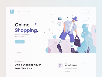 Online Shopping 🛍 minimal chat man icon call to action procreate illustrator product design web design website web color landing page illustration shopping online shopping ux design ui design ux ui