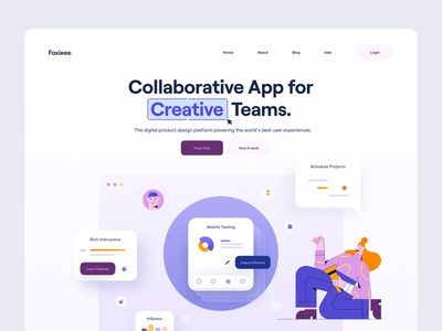 Foxieee. illustration character avatar team work button analytics chart ui elements team app collaboration creative elements interface ui design website web app web ux ui