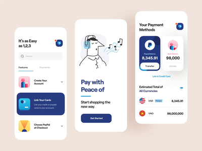Paypal - Mobile App: Animation payment minimal clean smooth app animation web animation slide card paypal web app mobile interactive interaction motion animation ui design ux design ui ux