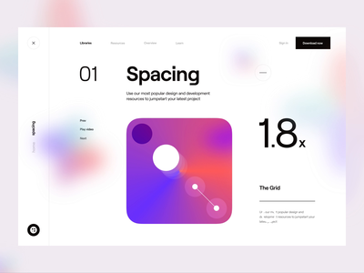 Blurr_ Animation menu spacing fonts web design website scrolling after effect animated animation typography gradient design web app web interactive interaction ux design ui design ux ui