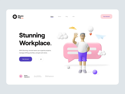 Stunning_ Animation scrolling interaction icons dashboard timeline motion after effect project management illustration 3d character character 3d animated animation app web ux design ui design ux ui