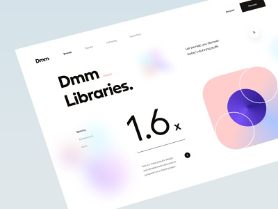 Dmm_ Animation mouse drag and drop icon font spacing design system web app app web design scrolling typography interaction clean minimal animation ux design ui design ux ui