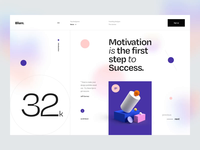 Blurr. Series - Animation minimal clean app website web ui8 news ui kit 3d illustration 3d typography interaction animated animation gradient blur ux design ui design ux ui