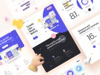 Collab. — Landing Page Kit design template responsive app mobile card html5 figma 3d assets 3d illustration 3d creative clean minimal ui kit landing page ux design ui design ux ui