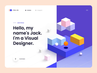 Folio: Designer Portfolio Kit – Animation typography designer portfolio ui design kit template ui kit minimal clean 3d illustration 3d interaction animated html5 animation website web ux design ui design ux ui