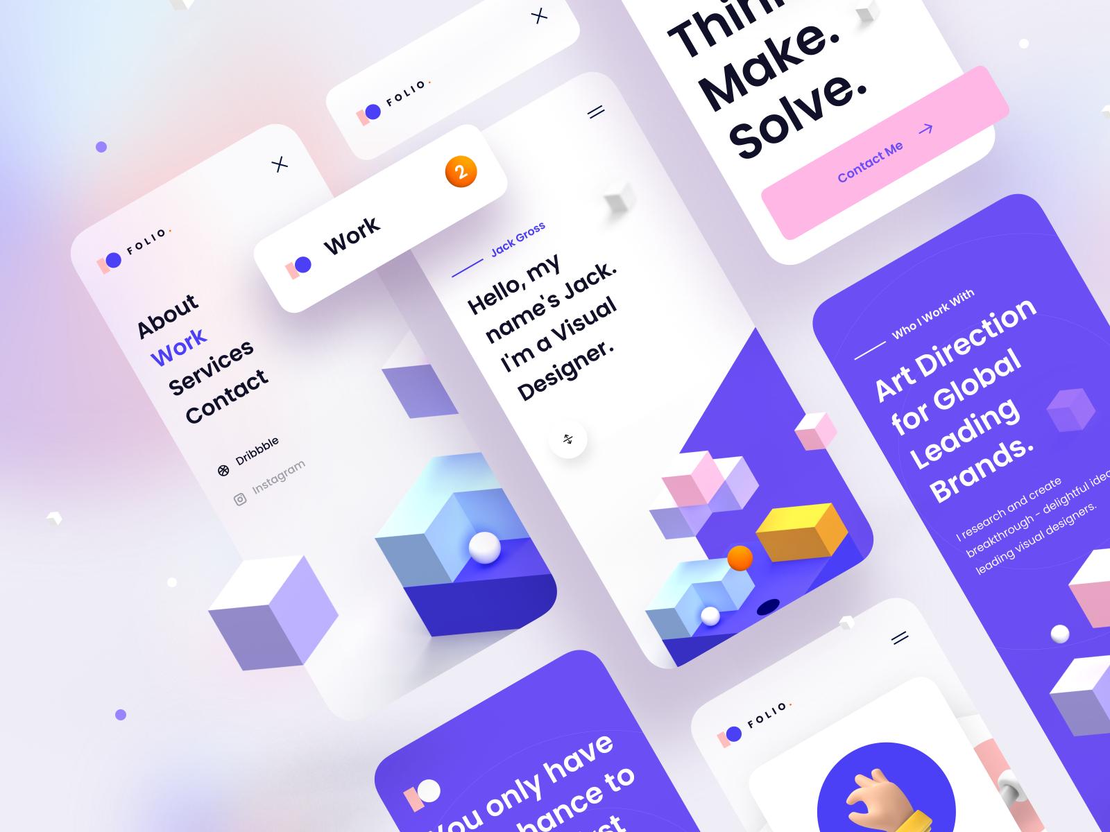 Folio: Designer Portfolio Kit – Mobile Version
