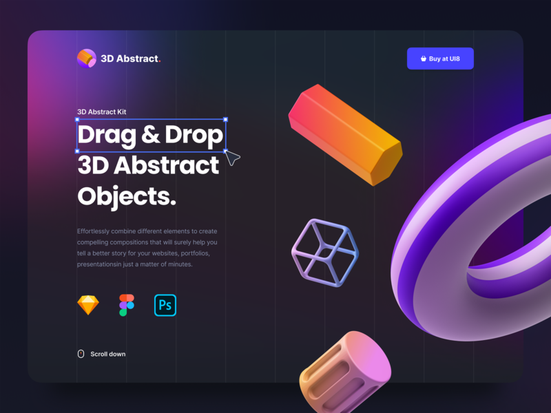 Abstract 3D Vol. 1 product design blur drag and drop 3d design graphic 3d abstract 3d icon 3d gradient dark theme dark presentation website mobile app web ux design ui design ux ui