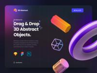 Abstract 3D Vol. 1 product design blur drag and drop 3d design graphic 3d abstract 3d icon 3d gradient dark theme dark presentation website mobile app web ux design ui design ux ui