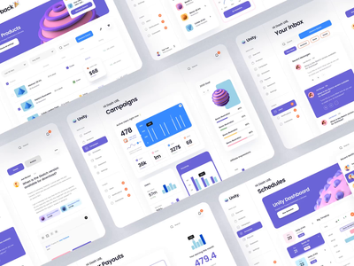 Unity Dashboard – Desktop components chart analytics sketch figma app mobile app web typography card dashboard ui design kit ui kit 3d design 3d animation ux design ui design ux ui