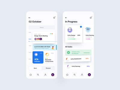 Estaro v.2 – Task Management – Animation after effect animated animation mobile app mobile app ui kit minimal clean character graphic illustration task management app task management task manager task ux design ui design ux ui