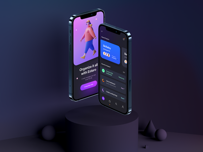 iPhone 12 Mockup – Estaro Task Management App 3d character card task minimal mobile app render 3d illustration 3d clean phone mockup ux design mockup ui design ux ui task manager task management iphone 12 mockup template iphone 12 mockup iphone 12