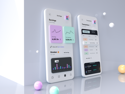 Simple Phone Mockup for Anaylytics UI 3d mockup 3d illustration 3d line chart minimal clean mobile app mobile ui dashboard chart analytics simple ui card popup iphone mockup phone mockup ux design ui design ux ui