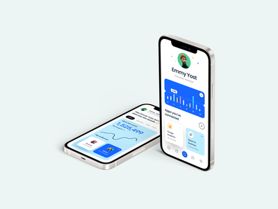 Mobile Dashboard UI for 🦊Adelfox tab bar statement earning slack google analytics card line chart chart mobile mobile app user interface dashboard ui dashboard typography clean minimal ux design ui design ux ui