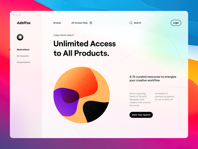 Minimal Hero Header Concept colorful illustration gradient noise web ui ui concept clean minimal clean navigation nav bar typography web design website web hero header minimal ui ui design ui ux minimal