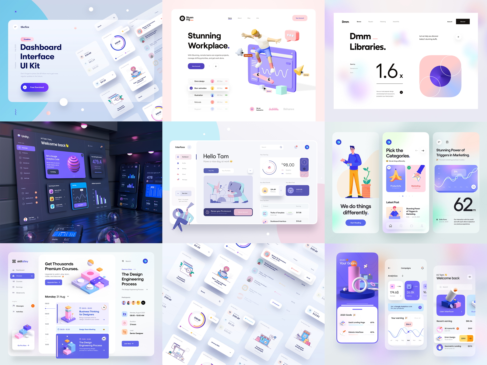 The Best Nine Of 2020 By Tran Mau Tri Tam For Ui8 On Dribbble