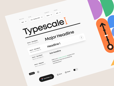 DSM – Typescale minimal clean drag and drop input dropdown website web app typography geometric geometry typeface typescale toggle dark mode dark theme ux design visual design ui design ux ui