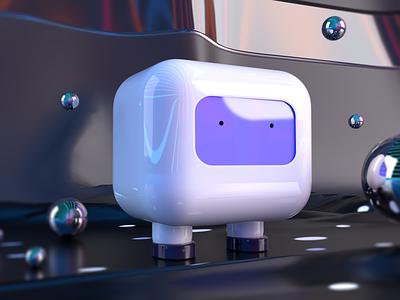 Kohaku Bot – ver. 1 ui8 animal 3d scene cute 3d material slick 3d illustration illustration visual design 3d modeling 3d render render ai bot ai 3d character 3d design character robot bot 3d