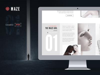 Maze | Creative Agency PSD Template elegant maze maze runner maze 2014 creative agency psd psd template free psd download psd design business
