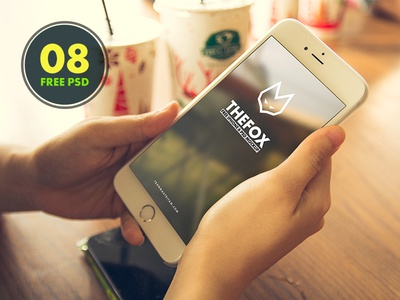 8 Free TheFox iPhone 6 PSD Mock-Ups Template