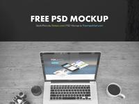 Free laptop psd