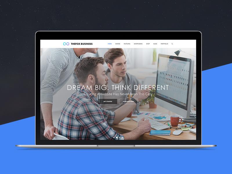 Thefox Business Psd Template Retina Responsive Professional Portfolio Modern Elegant Corporate
