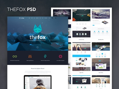 TheFox PSD version 1.39 Out Now download psd best psd retina psd template elegant business envato themeforest template tranmautritam thefox psd thefox