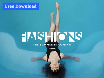 Free PSD Template / TheFox Special Version clean blue photoshop download psd free download thefox psd free landing page fashion psd template