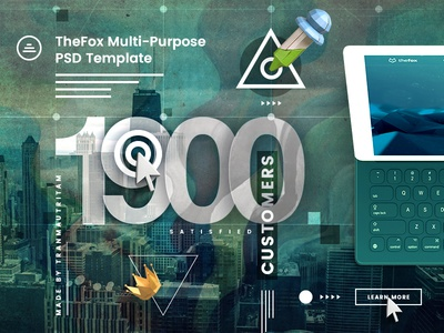 TheFox PSD has reached 1900 Sales on ThemeForest photoshop download psd theme of the year clean theme business template business theme tranmautritam envato themeforest achievement psd template thefox psd