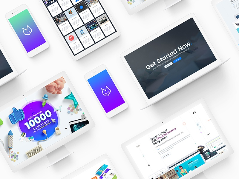 TheFox Landing Page Presentation on Behance thefox wordpress template wordpress template business theme special offer discount sale off theme wp theme wordpress thefox