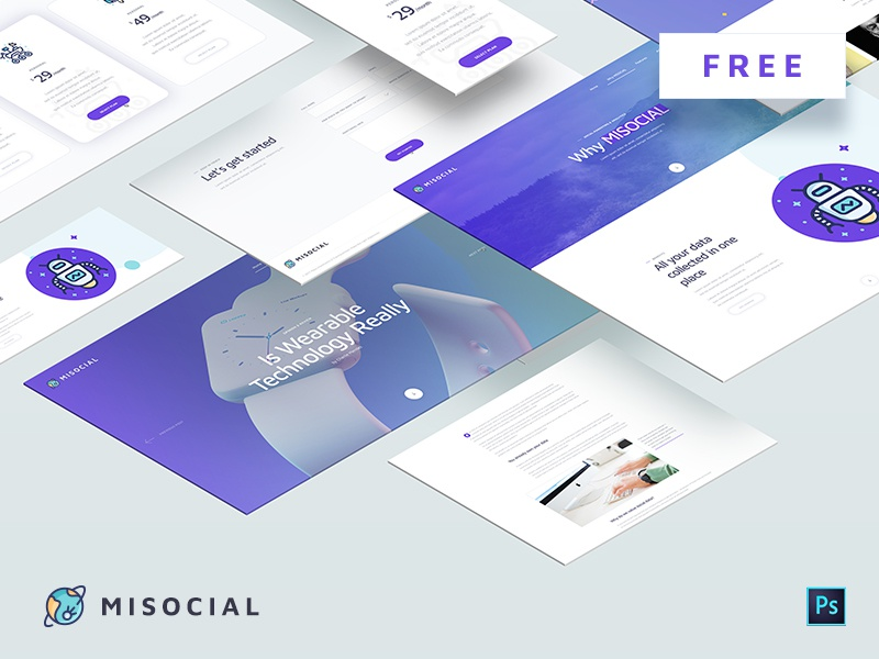 Download MISOCIAL – Free PSD Template