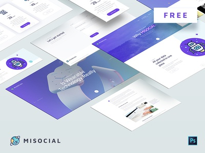 MISOCIAL - Free PSD Template