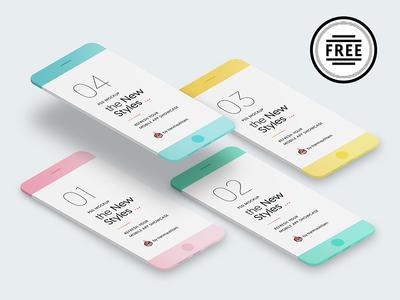 Free Download: New Minimalistic Phone Mockups