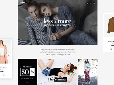 Cesis Fashion Demo life style style girl lady woman fancy ux design web design elegant clear clean fashion