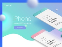 Free Gradient Banner with the Minimal Phone Mock-Ups
