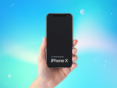 Free iPhone X on Hand Mockup