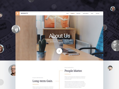 🚀 Free PSD: MIEquity - About Us business company meet the team team time-line time line about me who we are about us about
